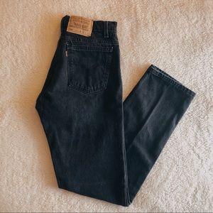 Vintage Levi's 505 orange tab denim jeans